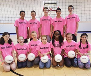Volleyball team.