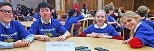 Reid School students compete in the MathCounts competition.